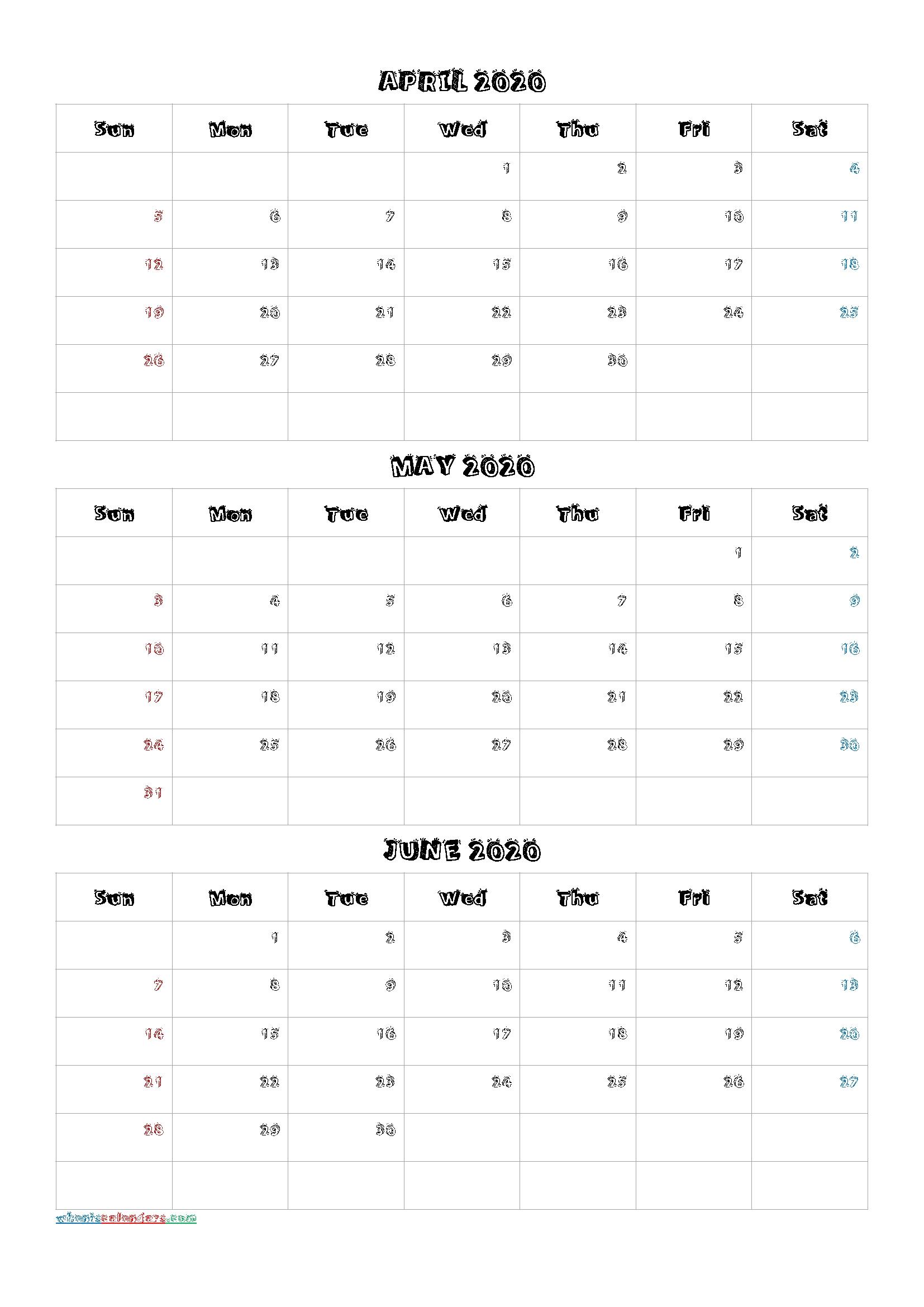 Pdf Calendar 2021 Three Months Per Page  Example Calendar intended for Three Month Printable Calendar 2021