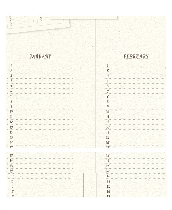 Perpetual Calendar  11+ Free Pdf, Psd Documents Download within Perpetual Monthly Calendar