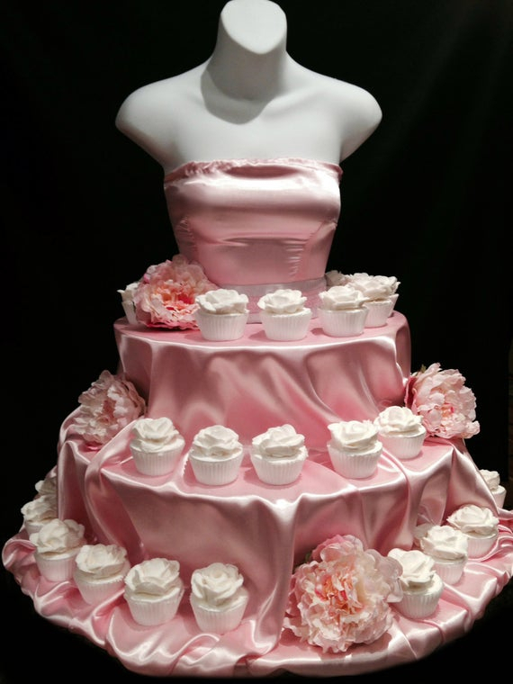 Pink Couture Cupcake Stand By Theeventfairy On Etsy with Cupcake Birthday Display