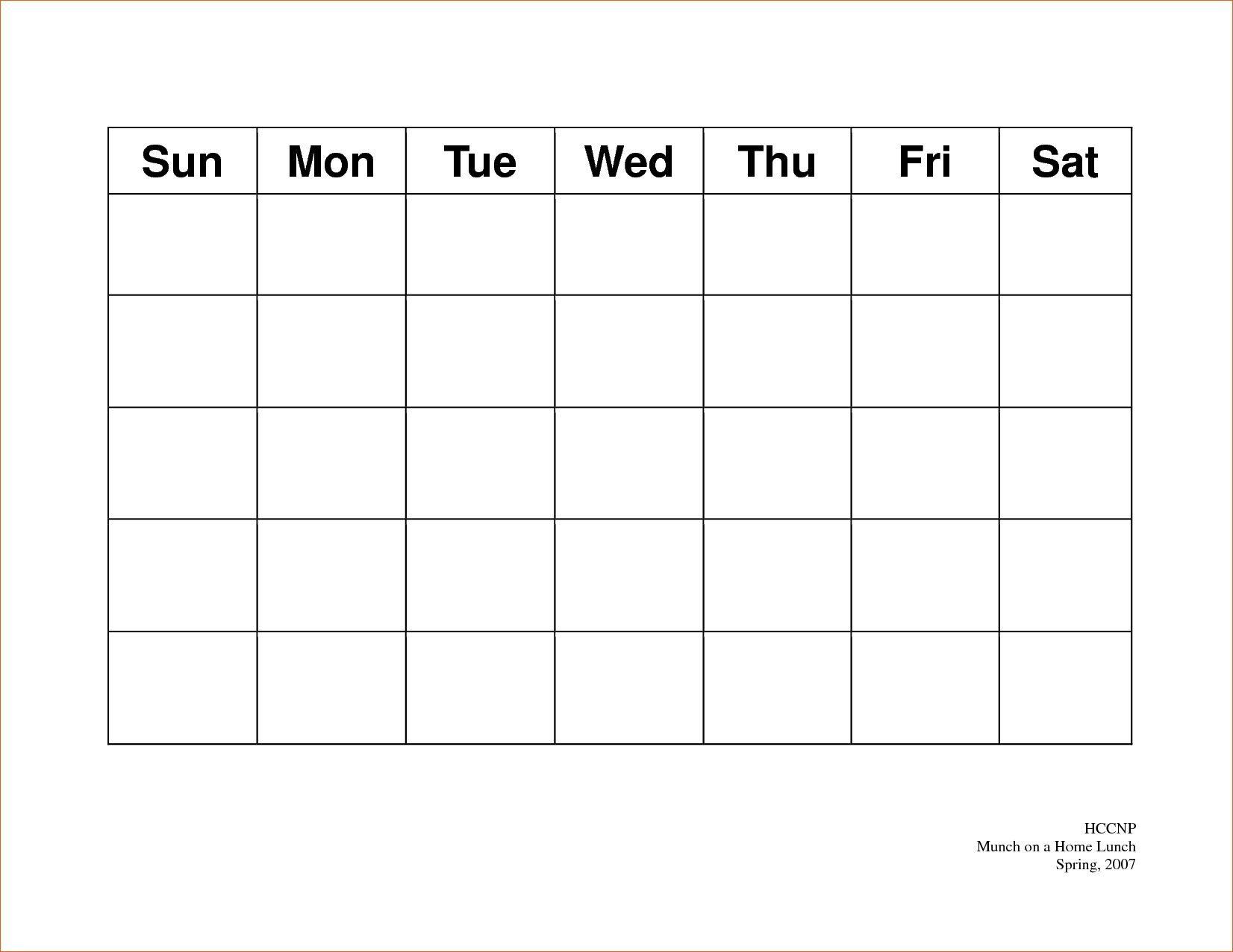 Print 5 Day Calendar   Calendar Printables Free Templates pertaining to 5 Day Calendar Template
