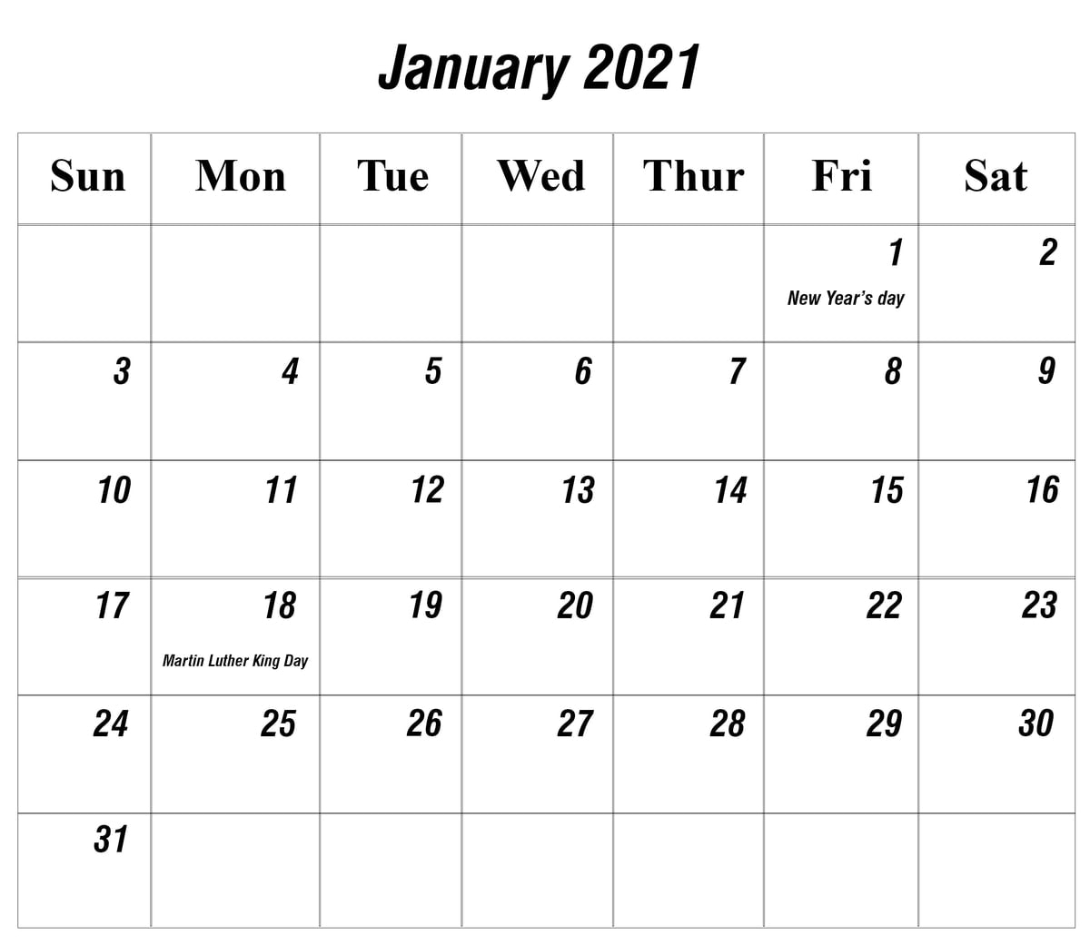 Print Free 2021 Monthly Calendar Without Downloading intended for Monthly Calendars Free Ruled 2021