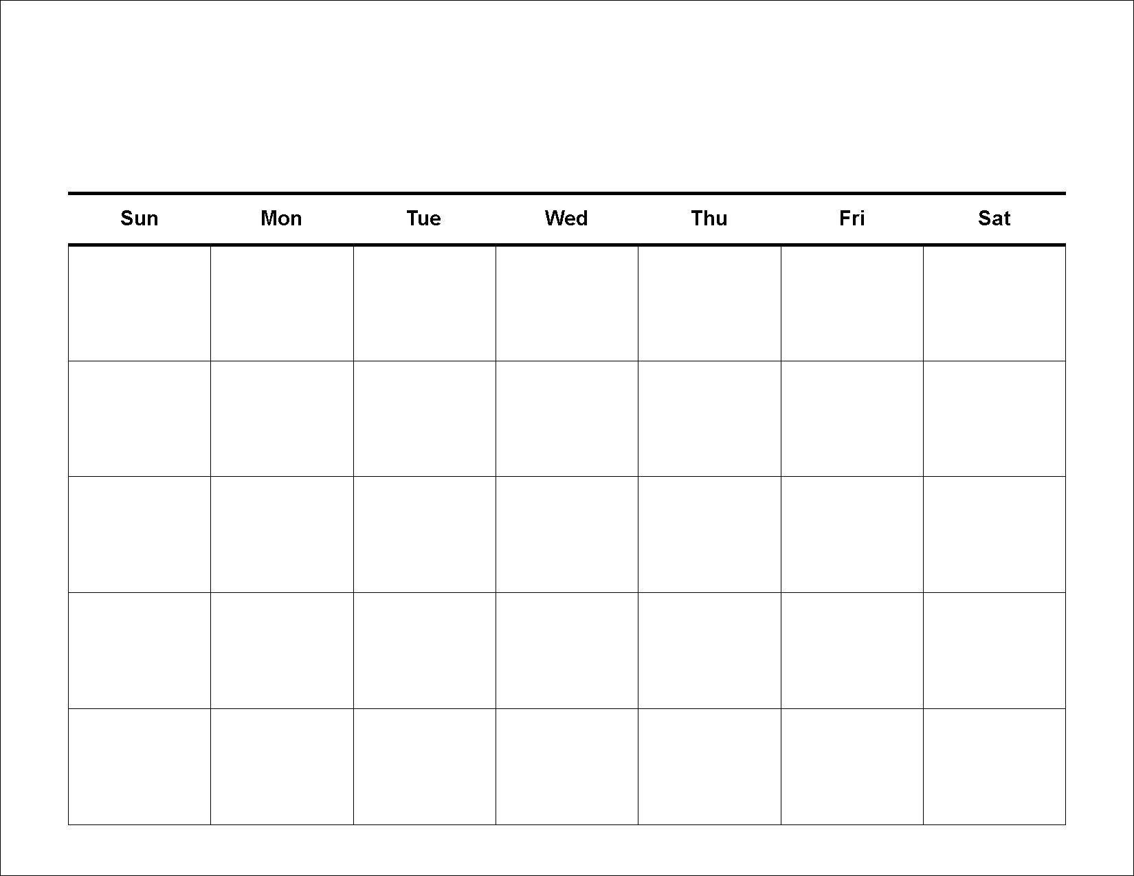 Printable 2 Week Blank Calendar Template | Calendar for Two Week Calendar
