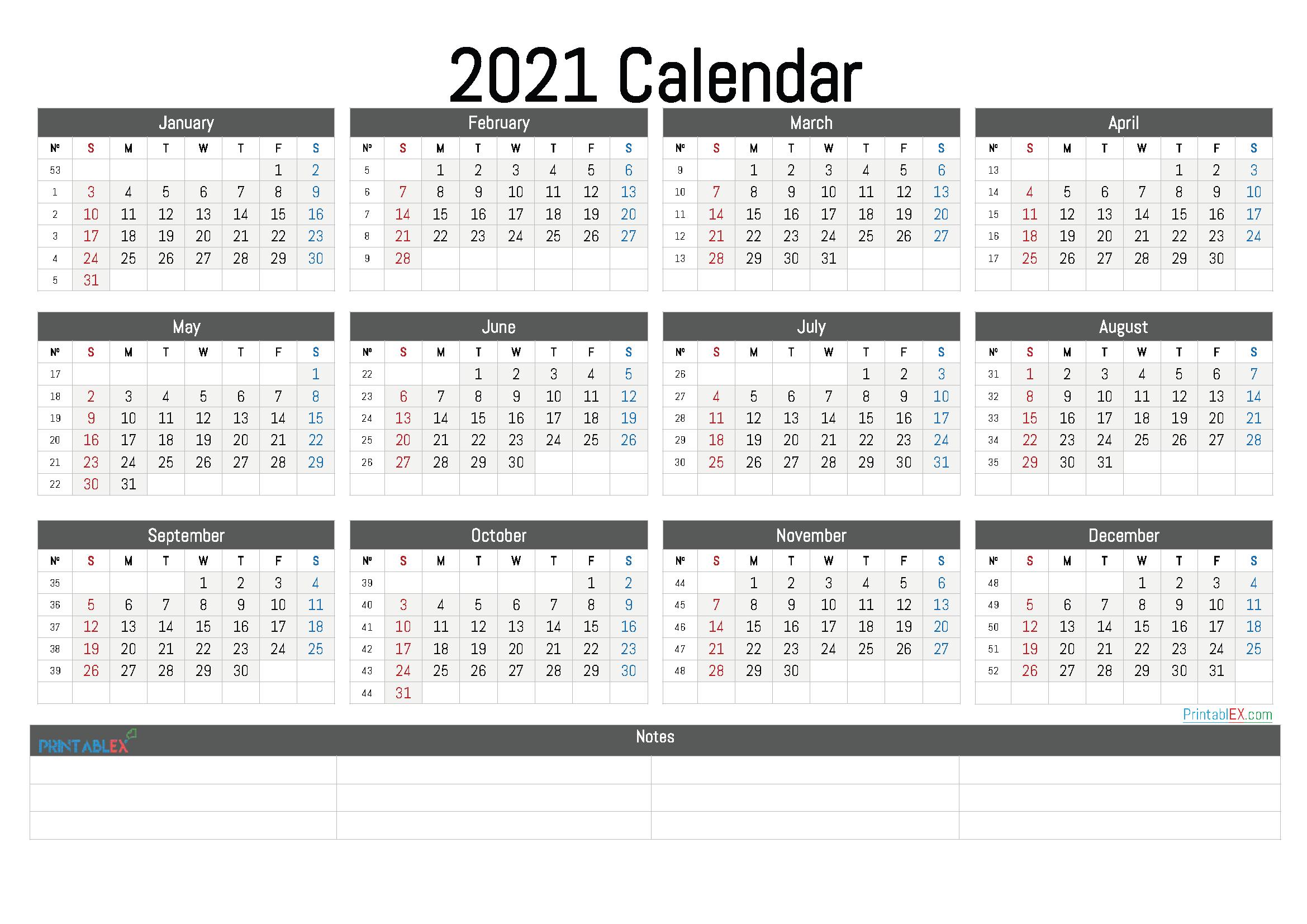 Printable 2021 Calendar By Month with 3 Month Blank Printable Calendar 2021