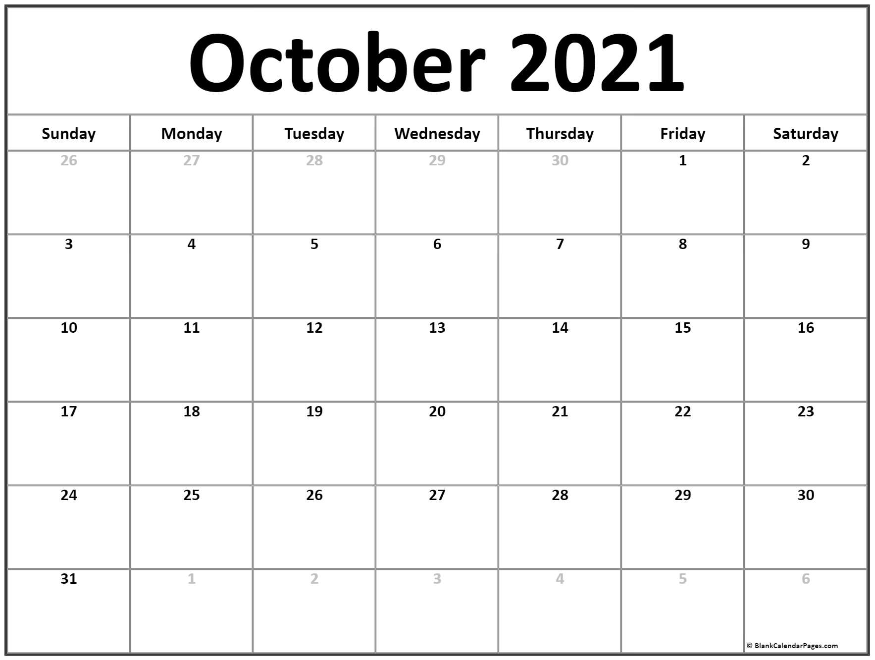 Printable Blank Monthly Calendar 2021 With Lines | Ten for 2021 Writable Calendars By Month