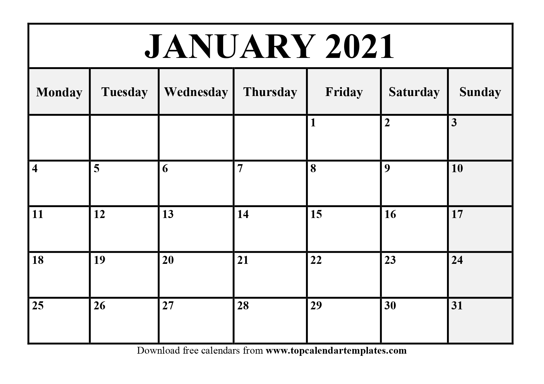 Printable Blank Monthly Calendar 2021 With Lines | Ten with regard to Monthly Calendars Free Ruled 2021