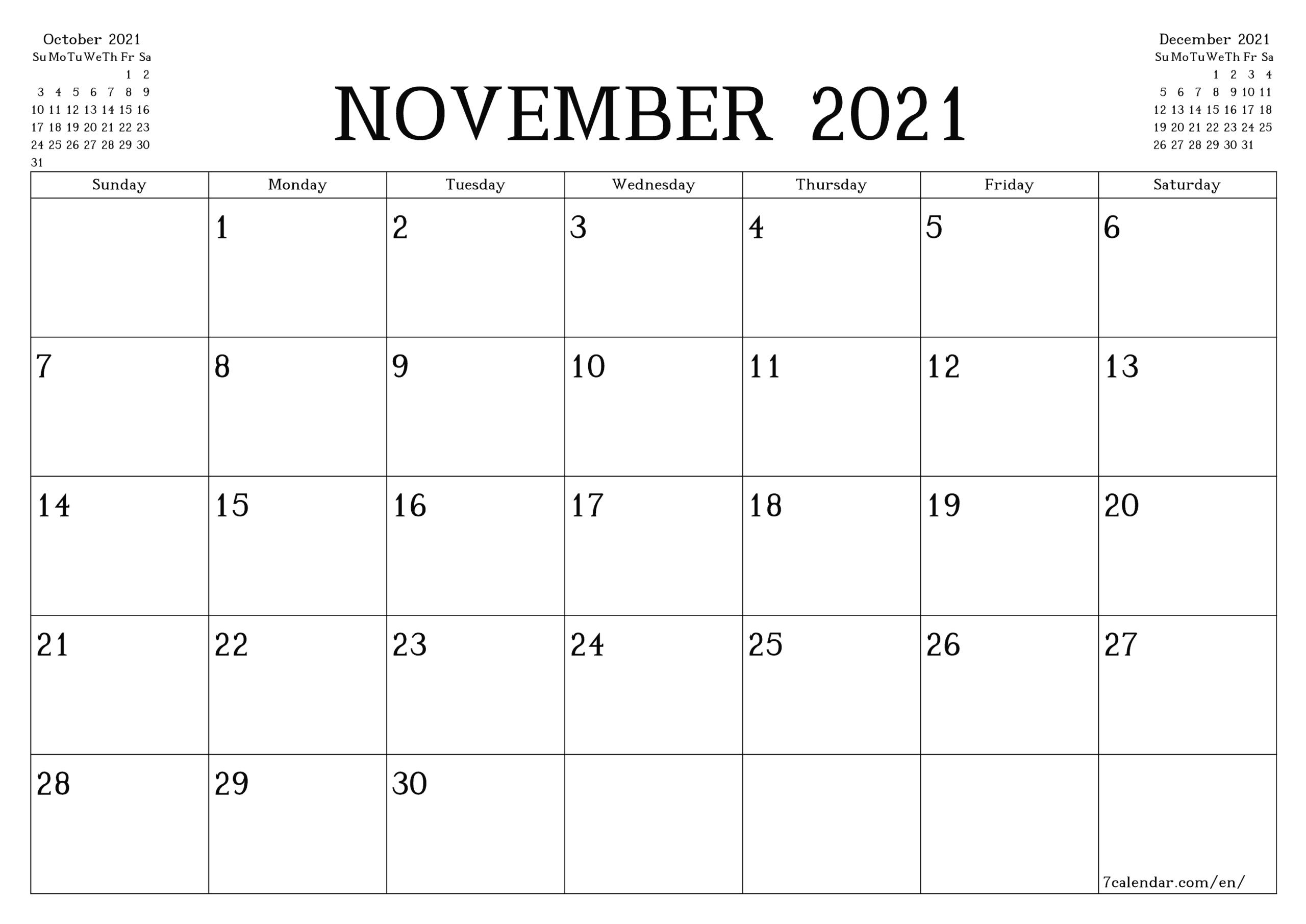 Printable Calendar 2021 Monthly   Printable Calendar 2021 regarding Blank Printable Calendars 3 Month 2021