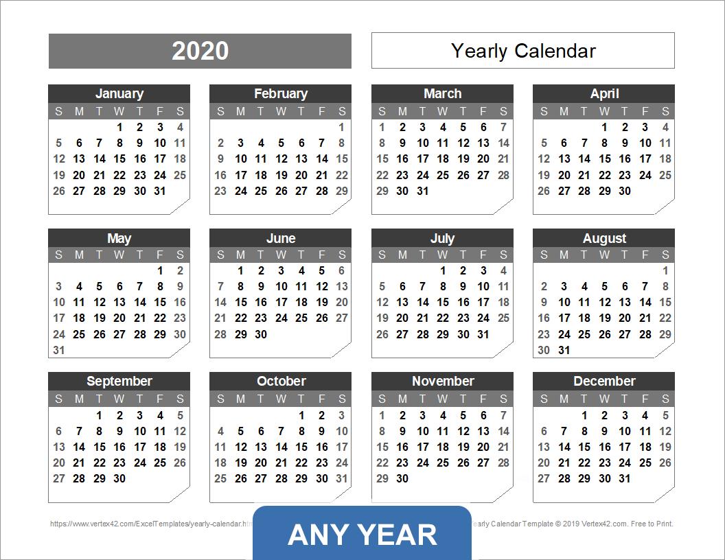 Printable Calendar 2021 Vertex42 | Printable Calendar 2021 for Vertex Free Calendar