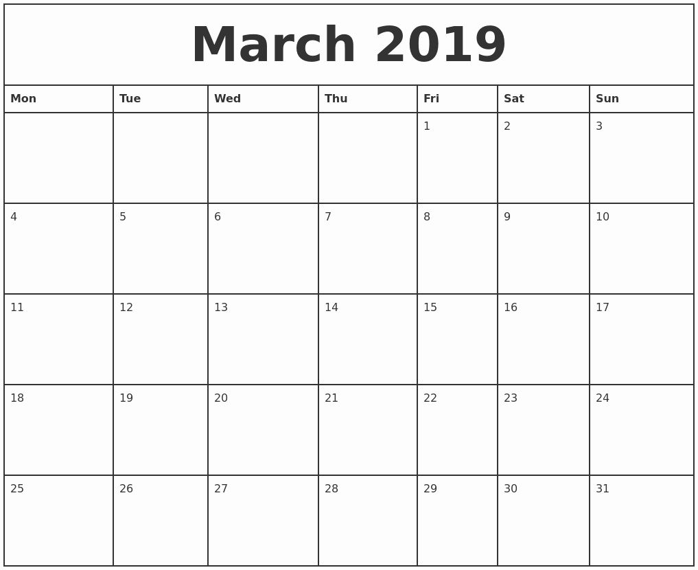 Printable Calendar Starting With Monday In 2020 | July for 2021 Calendar Excel Start Monday