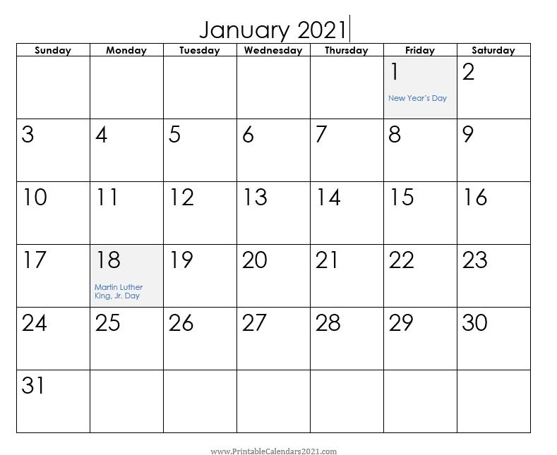 Printable Calendars 2021   Holiday Calendar Printable with regard to 3 Month Blank Printable Calendar 2021
