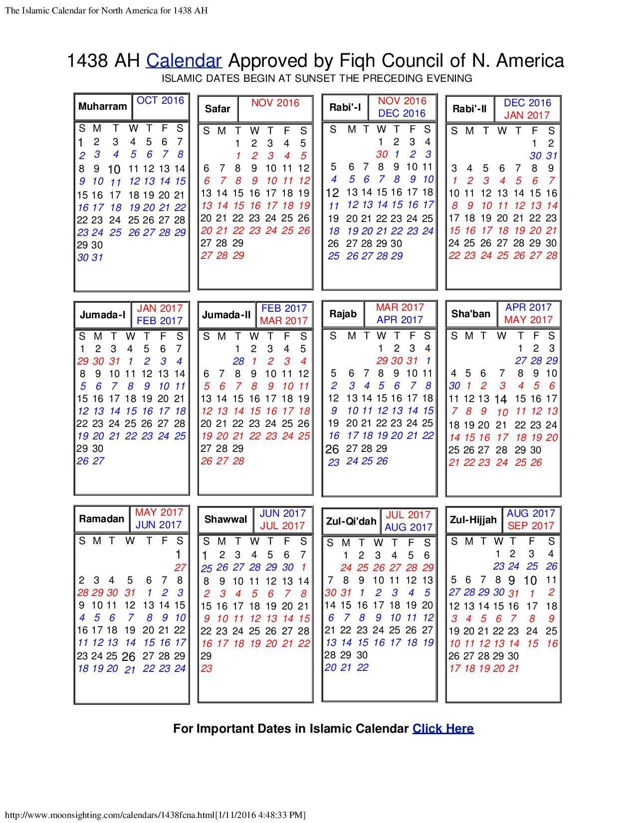 Printable Hijri Calendar Http:calendarprintablehub with Islamic Calendar In Nigeria