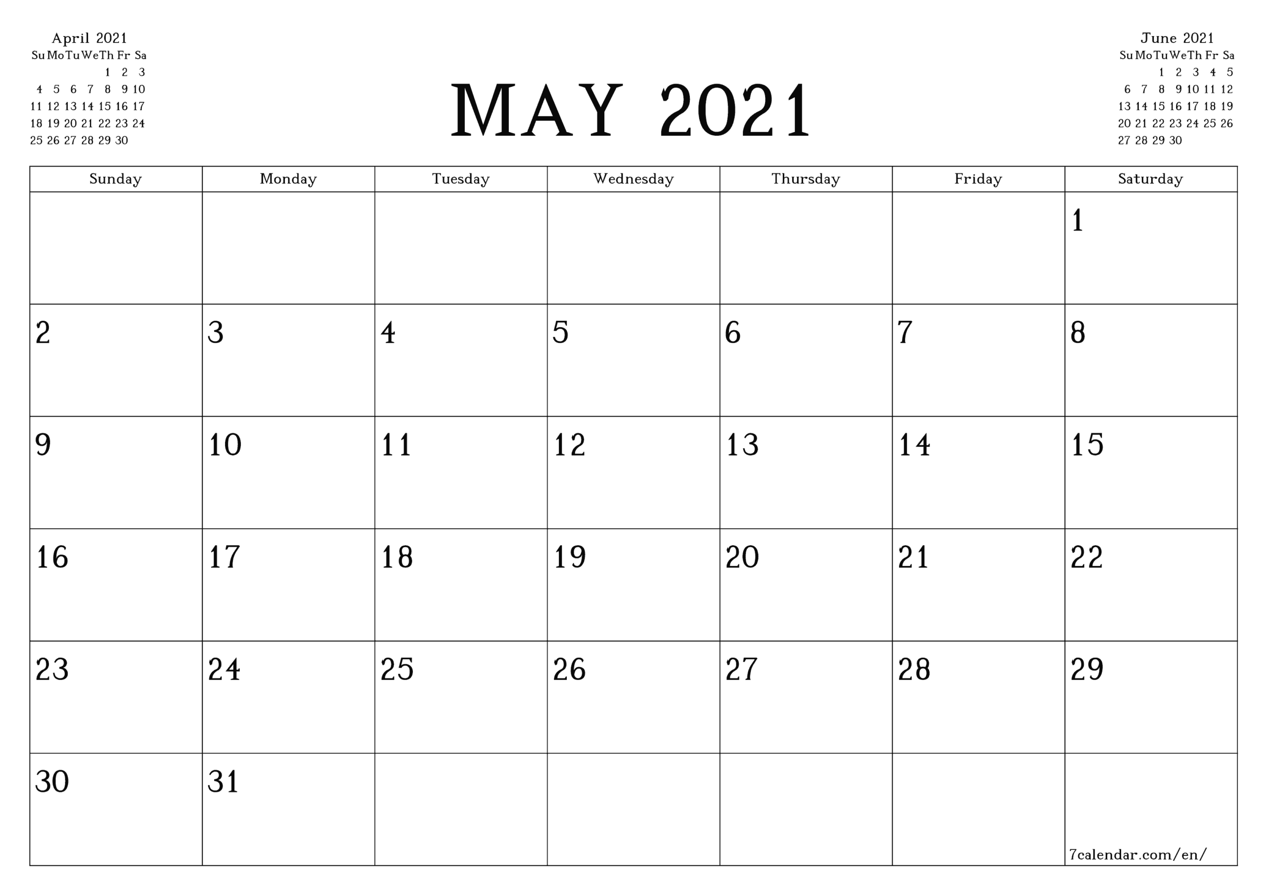 Printable May Calendar 2021 With Lines | Free Printable with regard to Free Printable Calendars 2021 With Lines