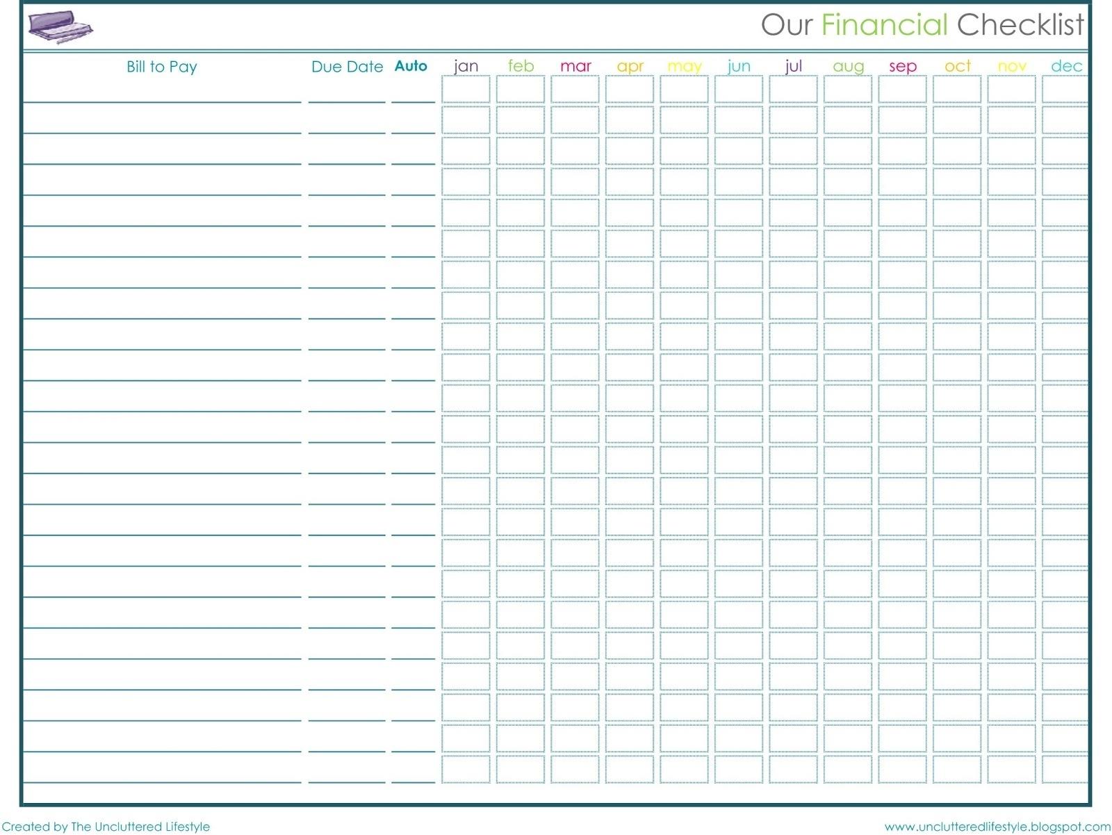 Printable Monthly Bill Payment Chart  Calendar regarding Bill Payment Chart