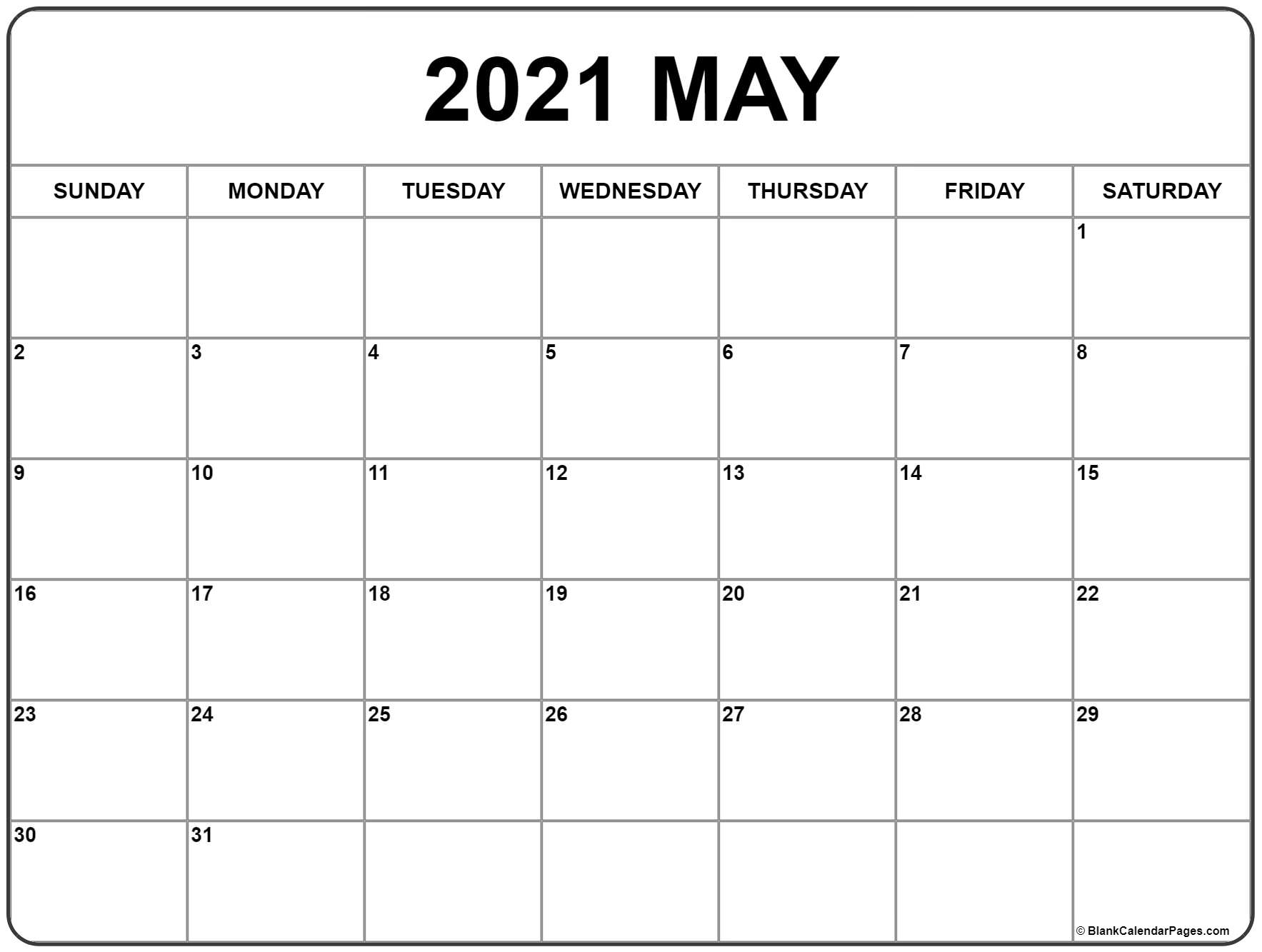 Printable Monthly Calendar 2021 with 3 Month Printable Calendar Templates For 2021