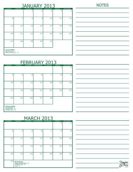 Printable Multi Month Calendars | Calendar Template 2021 for 3 Month Printable Calendar Templates For 2021