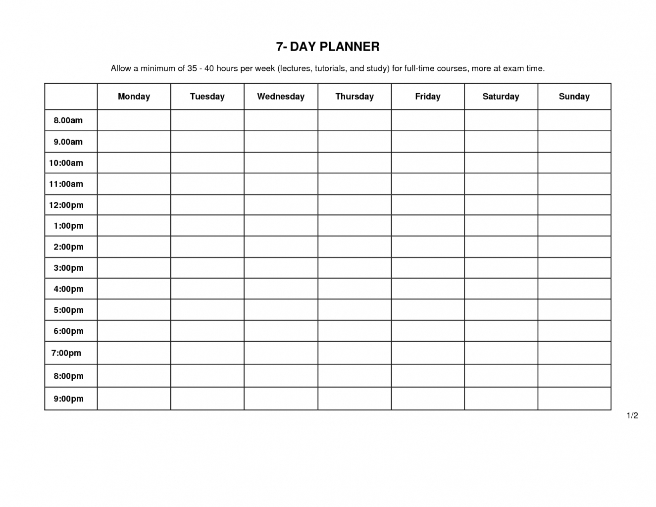 Printable Weekly Schedule Monday Through Friday  Calendar inside Blank Calendar Monday Through Friday