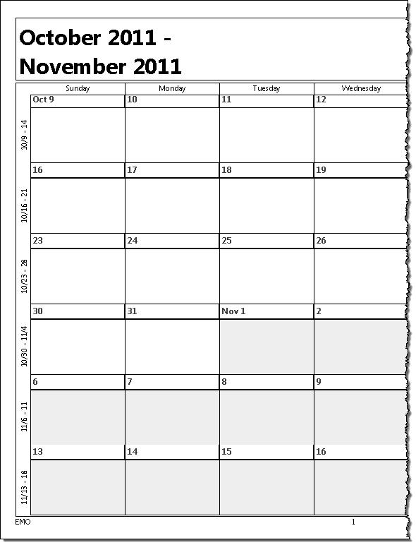Printing A Five Week Calendar throughout 5 Day Blank Calendar