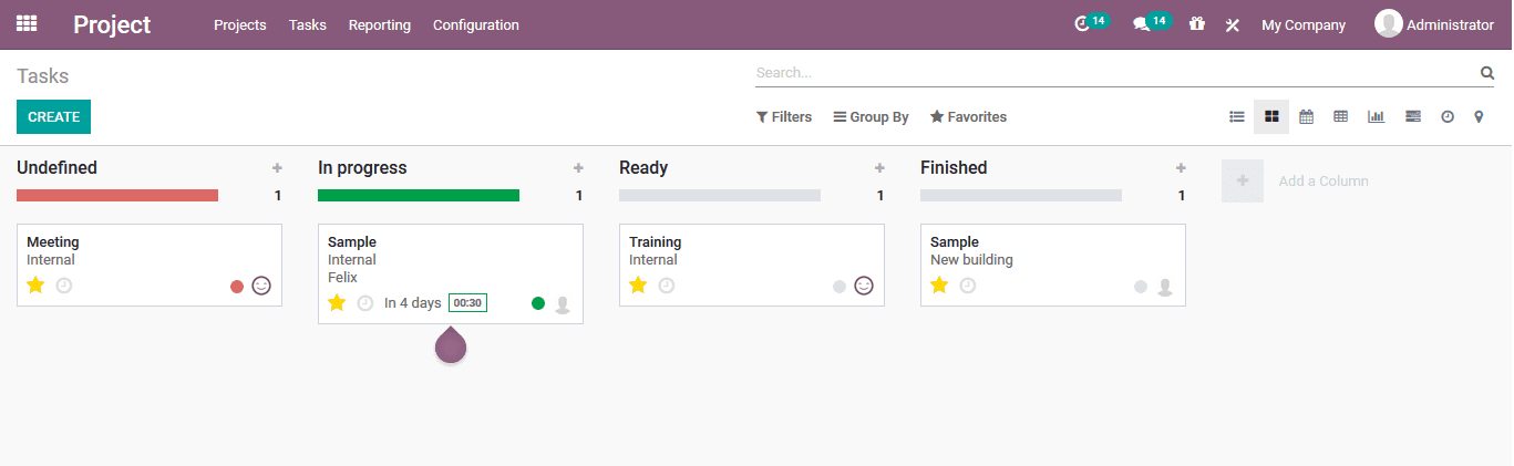 Project Management  Odoo V14 Book   Odoo For Beginners throughout Pto Schadle For Managme To View