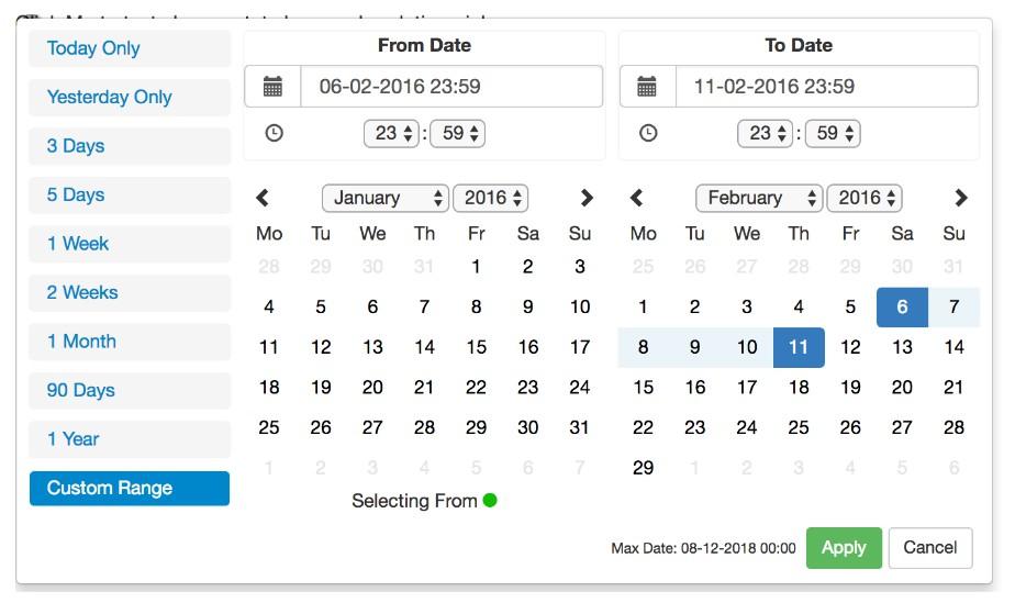 React Advanced Date Time Range Pickercodespots throughout Qualtrics Date Range Picker