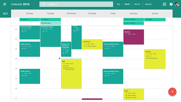 Redesign Of Google'S Web Calendar [Material Design] On Behance regarding Calendar Icon Material Design
