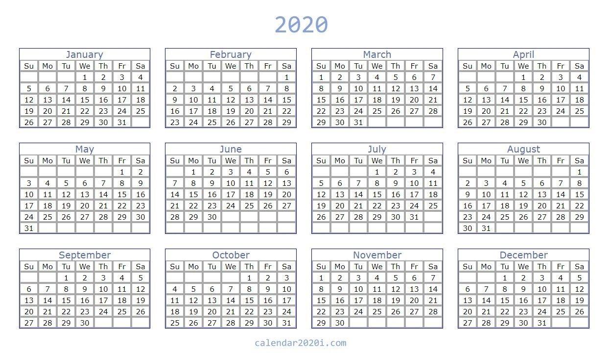 Remarkable 2020 Blank Printable Monthly Template In 2020 regarding Remarkable Calendar Template