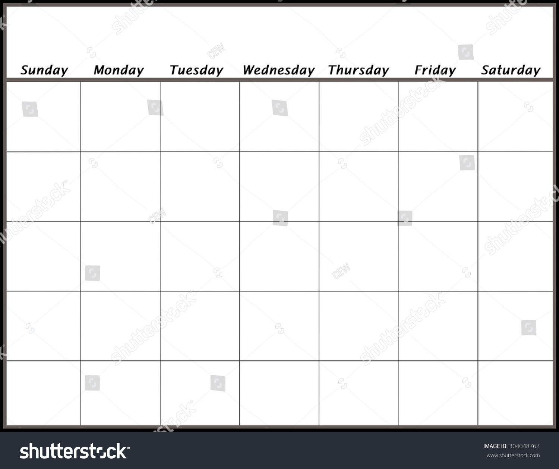 Remarkable Blank Calendar No Year In 2020   Blank Calendar pertaining to Remarkable Calendar Template