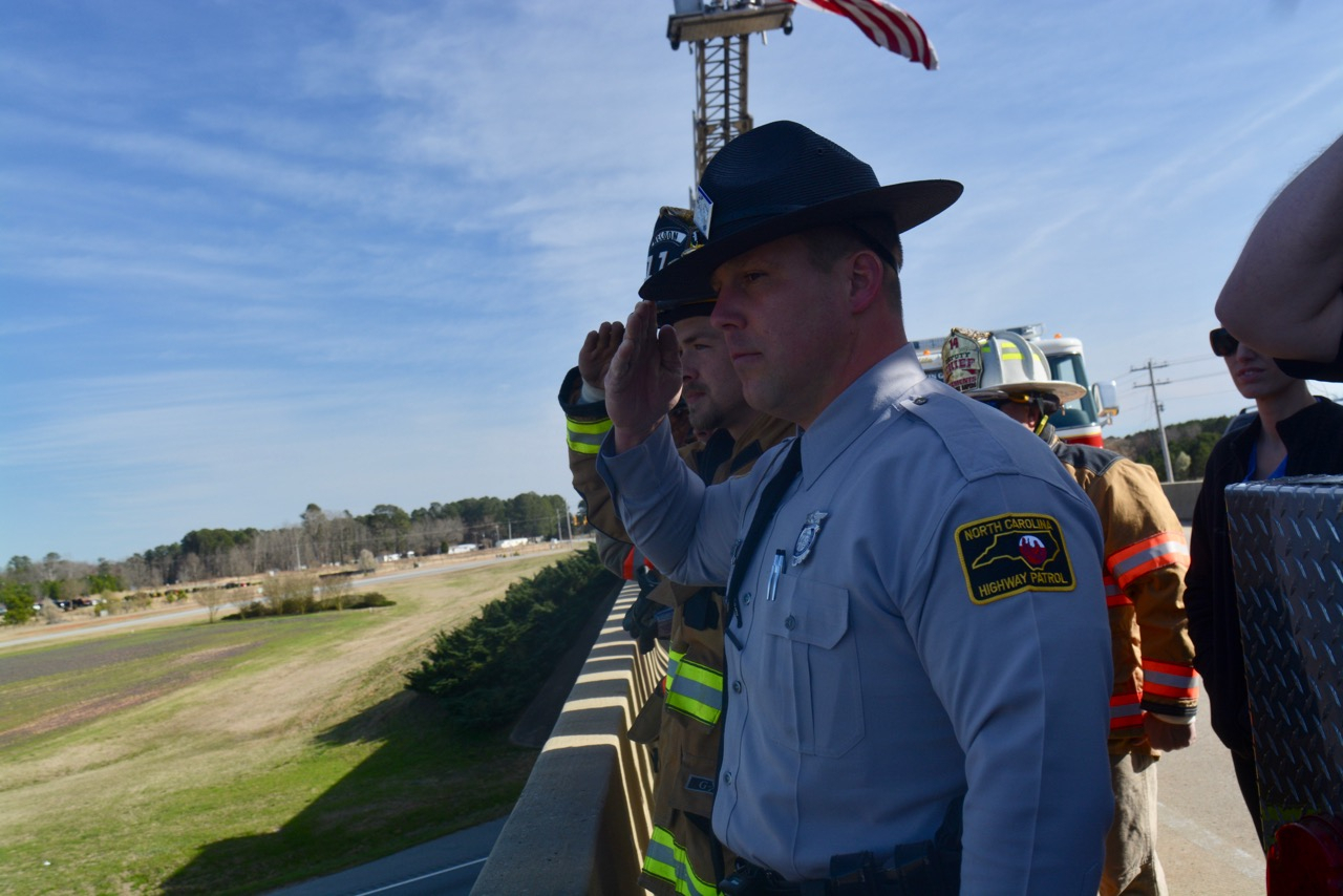 Rrspin  'One Of Us': Fire Chief Honored During Procession regarding During One Calendar Year A State Trooper