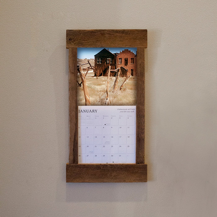 Rustic Barn Wood Calendar Holder Reclaimed By Tumbleweedcabin inside Wall Calendar Frames