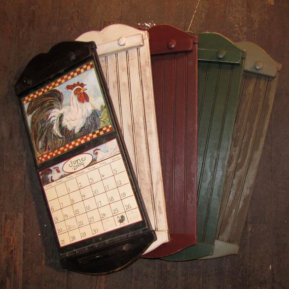 Rustic Style Calendar Holder Color Choice with Wall Calendar Frames