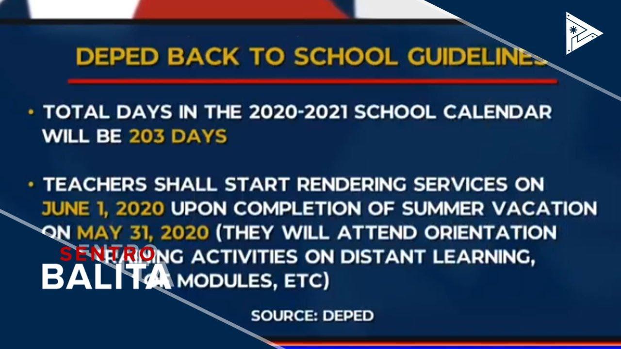 School Calendar Para Sa A.y. 20202021, Inilabas Ng Deped intended for Calendar Ng Manok Panabong 2021