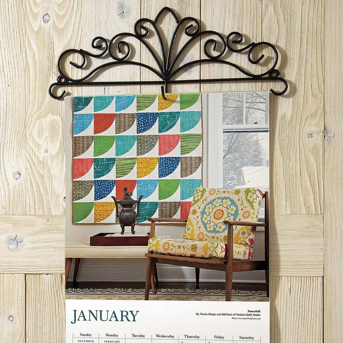 Scrolled Metal Wire Calendar Topper   Current Catalog with regard to Wall Calendar Frames