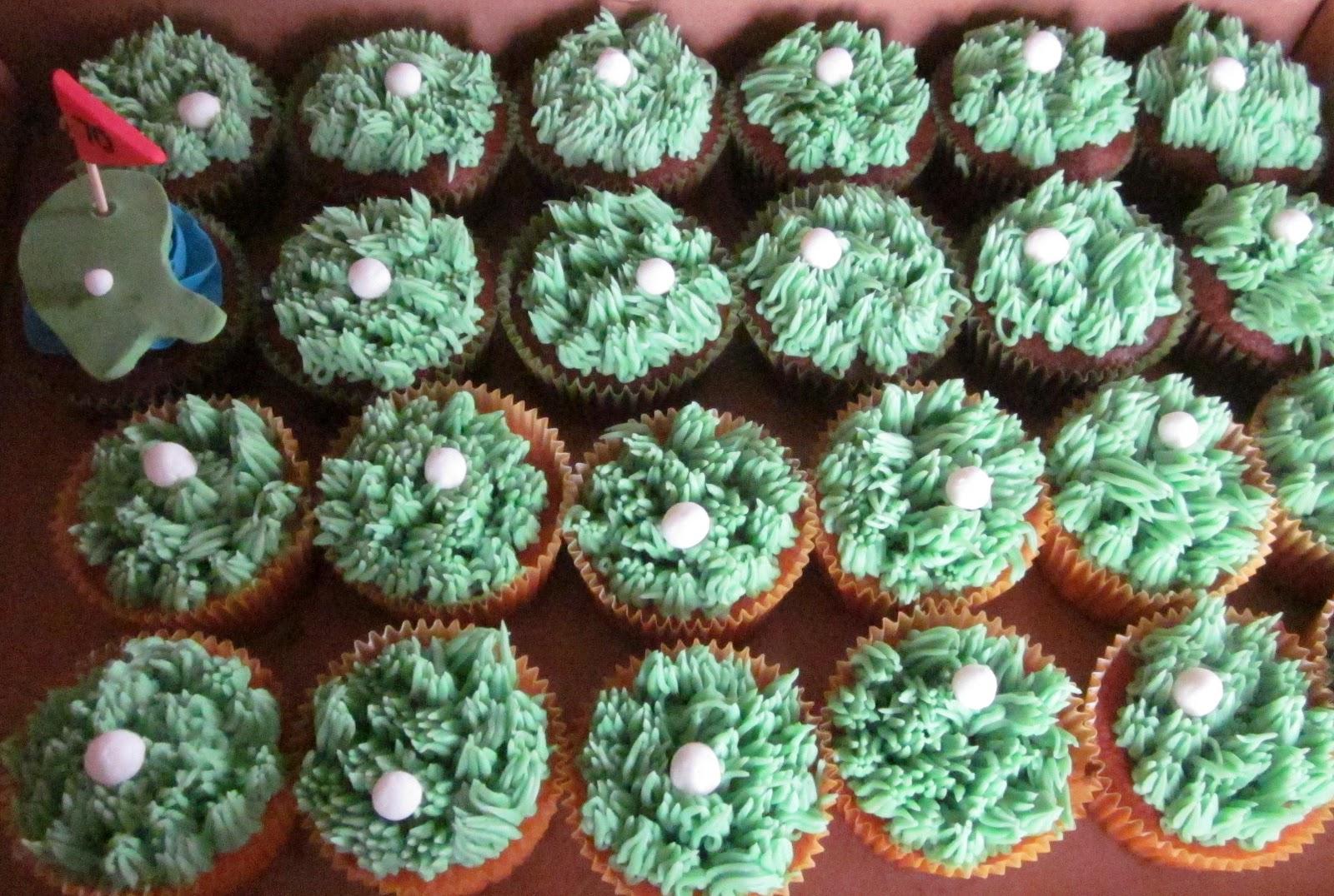 Second Generation Cake Design: Golf Themed Birthday regarding Cupcake Birthday Display