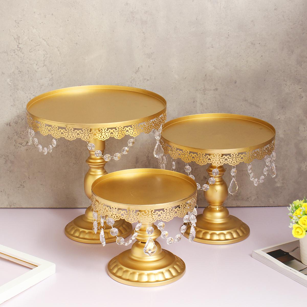 Set Of 3 Crystal Metal Cake Cupcake Stand Dessert Candy regarding Cupcake Birthday Display