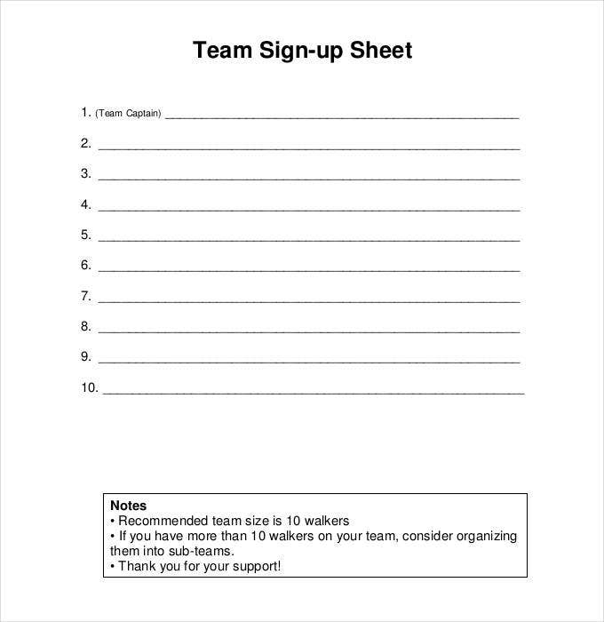 Sign Up Sheets  58+ Free Word, Excel, Pdf Documents in Football Potluck Sign Up Sheet