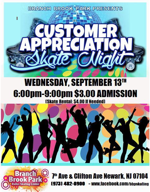 Special Events   Branch Brook Park Roller Skating Center inside Branch Brook Park Roller Skating