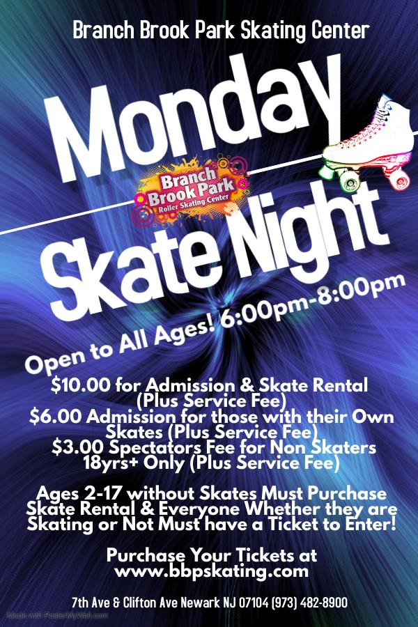 Special Events   Branch Brook Park Roller Skating Center intended for Branch Brook Park Roller Skating Center Newark Nj