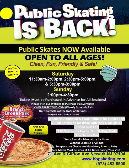 Special Events   Branch Brook Park Roller Skating Center regarding Branch Brook Park Roller Skating Center Newark Nj