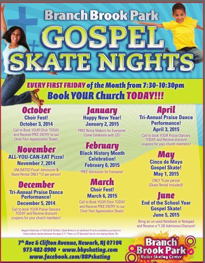 Special Events   Branch Brook Park Roller Skating Center regarding Branch Brook Park Roller Skating