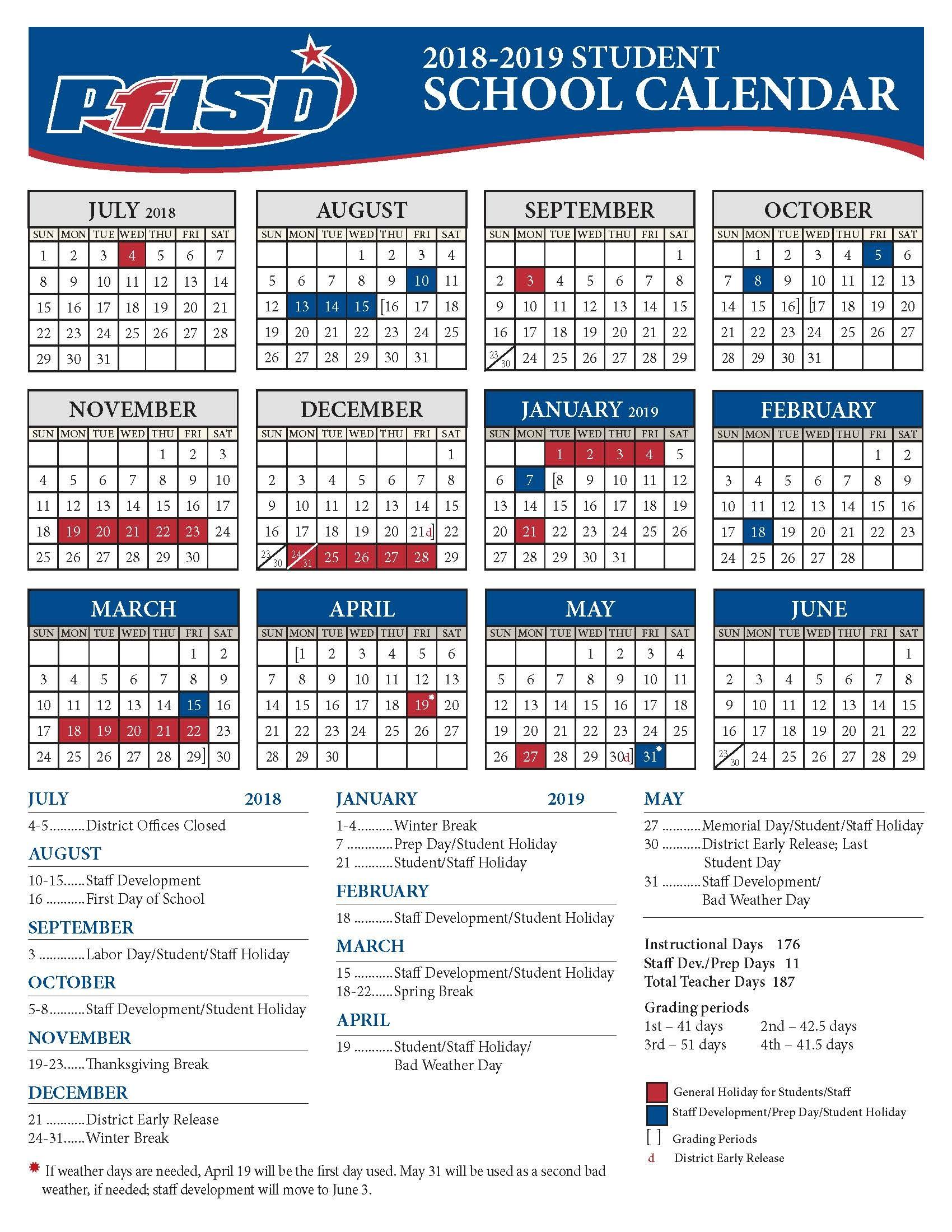 Spring Break 2019 Calendar | Qualads with Ocsb School Year Calendar