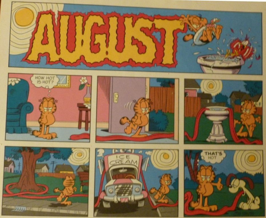 Sunday Comics Debt: August 2013 with Calender Of 1993 Sunday Which Festival