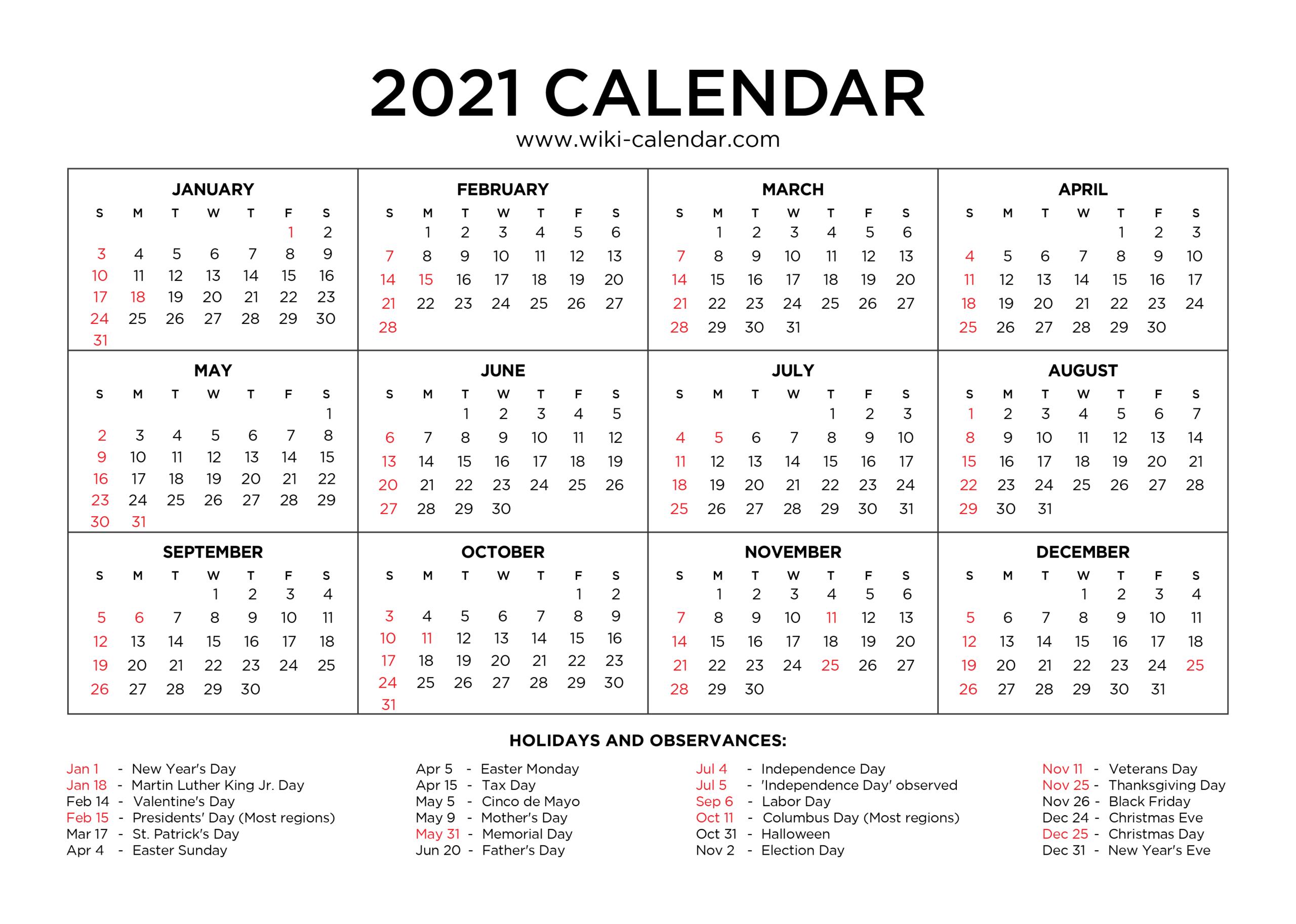 Sunday To Saturday Calendar 2021 Printable   Calendar with Google Printable Monthly Calendar 2021