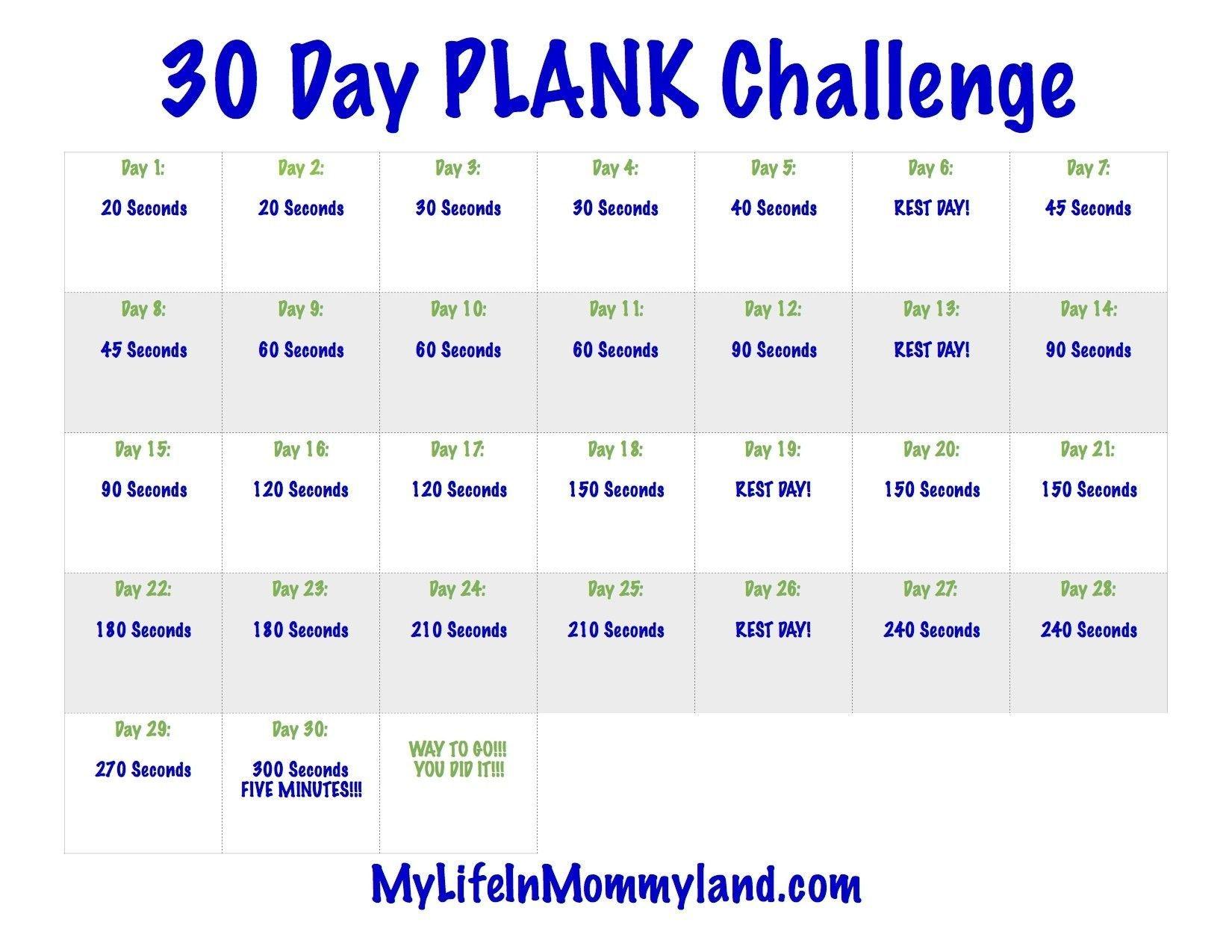 The 30 Day Plank Challenge Calendar | Get Your Calendar throughout 30 Days Calendar Template