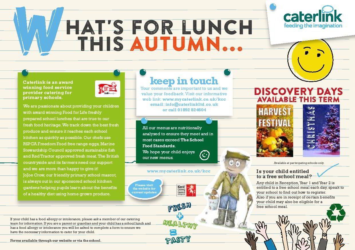 The Orchard School Lunch Menu with Orchard School Calendar