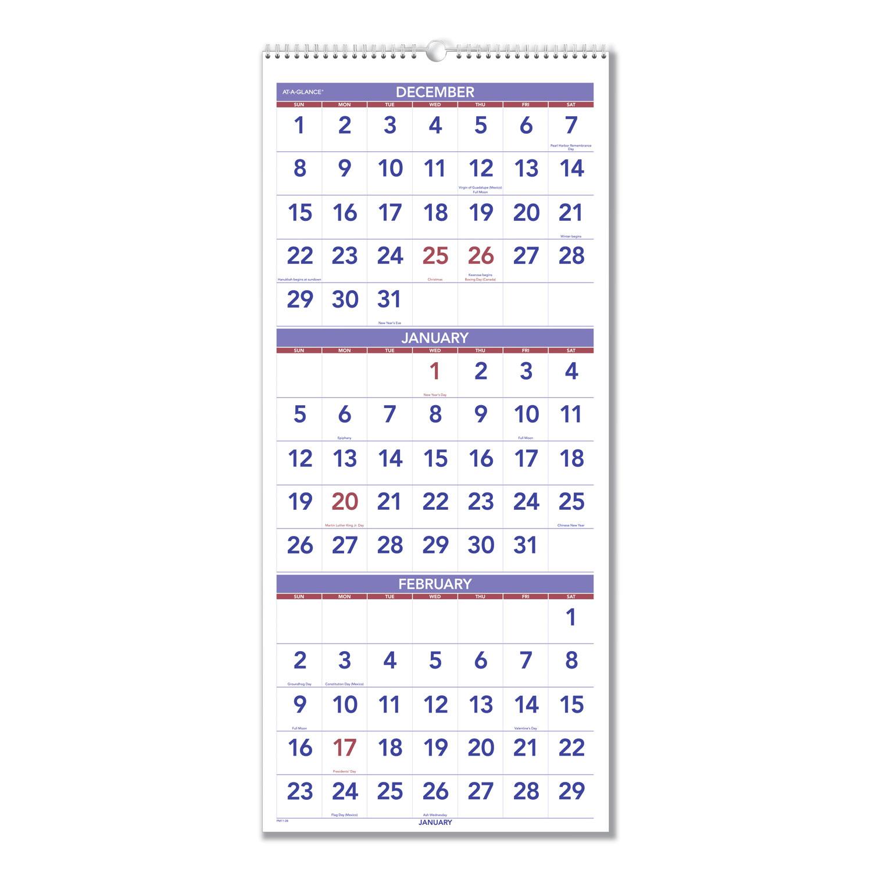 Three Month At A Glance Printable Calendar | Example pertaining to Printable Three Month Calendar