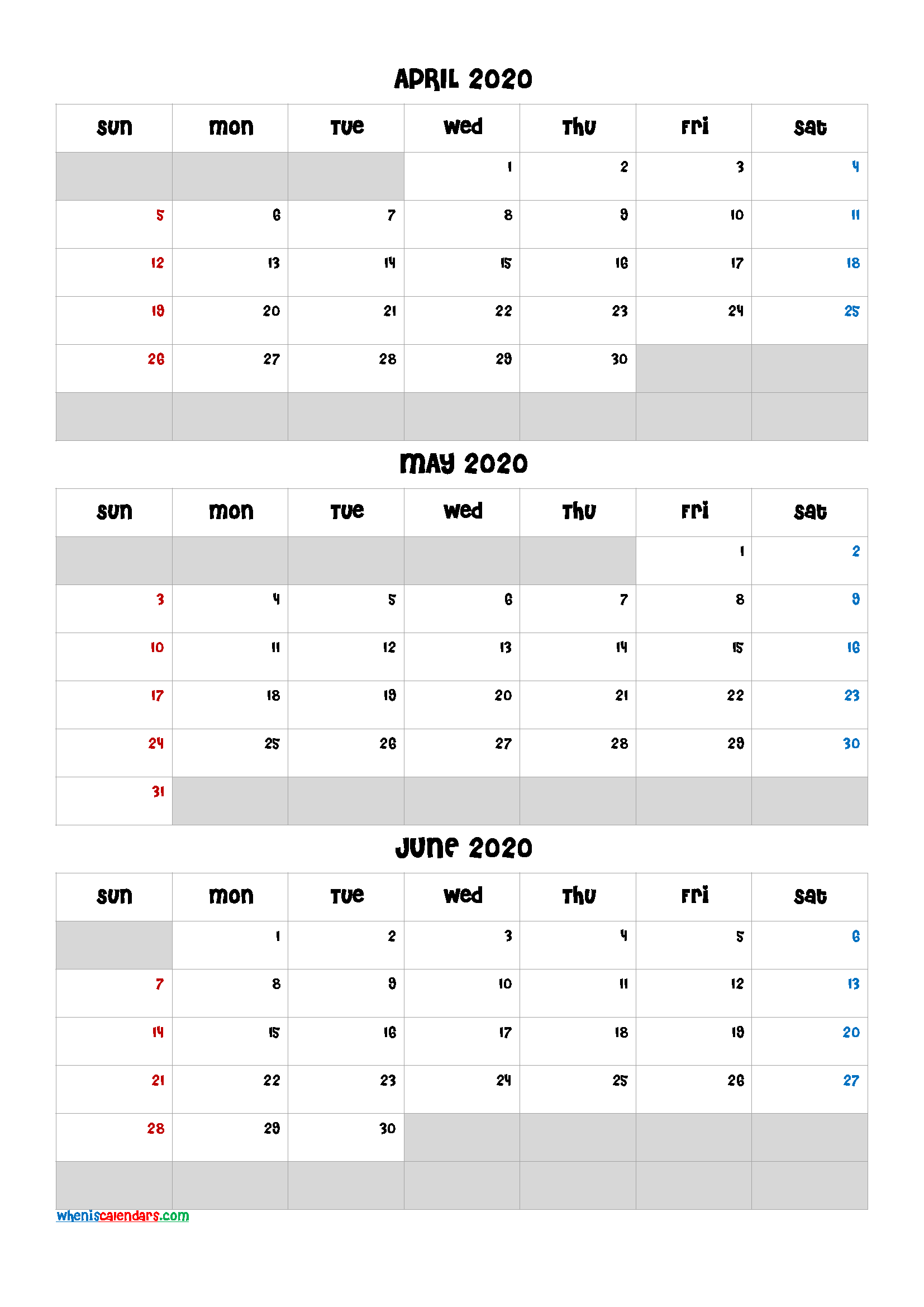 Three Month Calendar View April May June 2021 | Calendar 2021 with Last 3 Month Of 2021 Calendar
