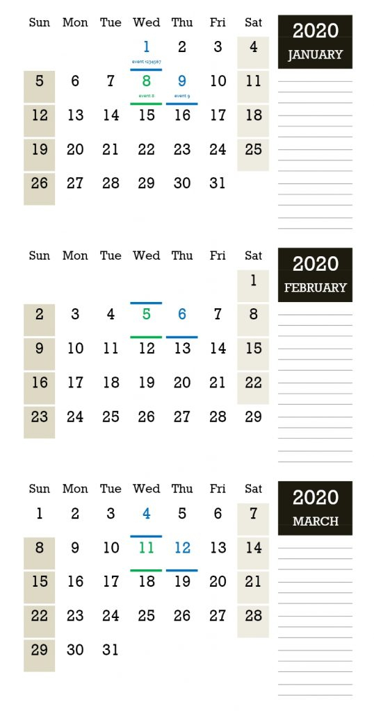 Threemonthly Calendar » Officetemplates pertaining to Calendar Template 3 Months Per Page