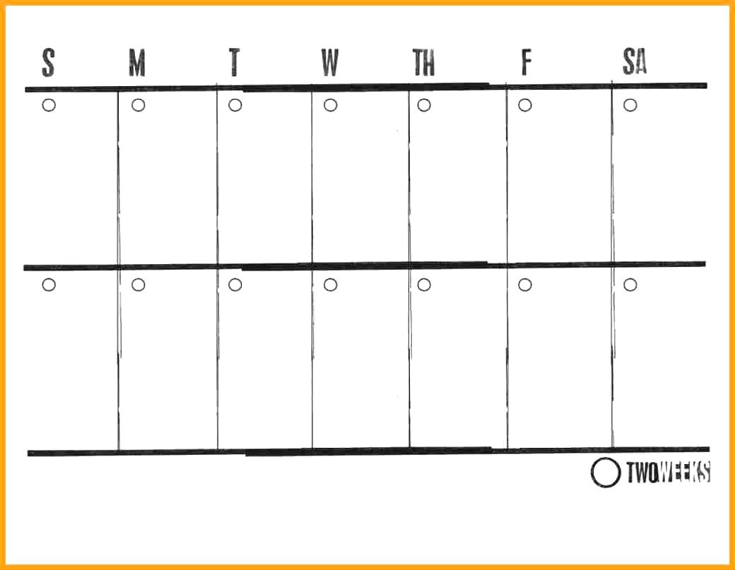 Two Week Printable Calendar :Free Calendar Template inside Calendar Two Weeks