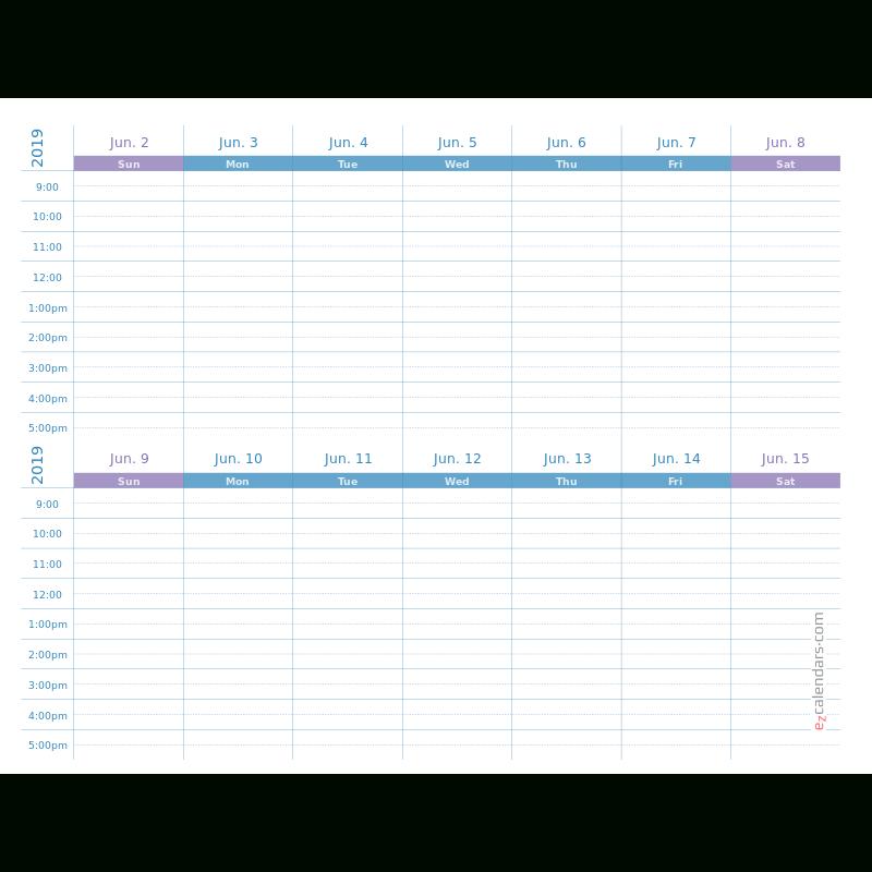 Two Weeks Appointment Schedule Template, Weekly Planner in Two Week Calendar