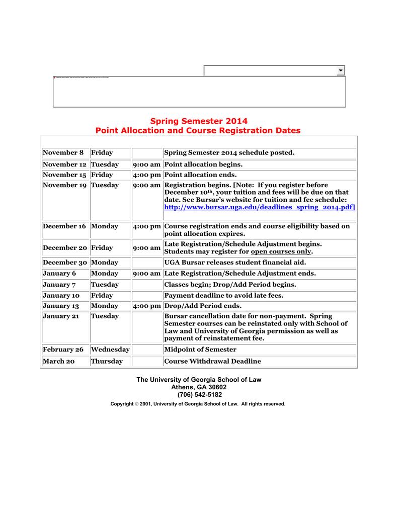 Uga Law School Academic Calendar   2020Calendartemplates pertaining to Uga School Calendar