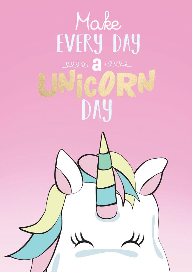 Unicorn A5 Diary  2020 Desk Diary | Carousel Calendars in Advice From A Unicorn Desk Calendar