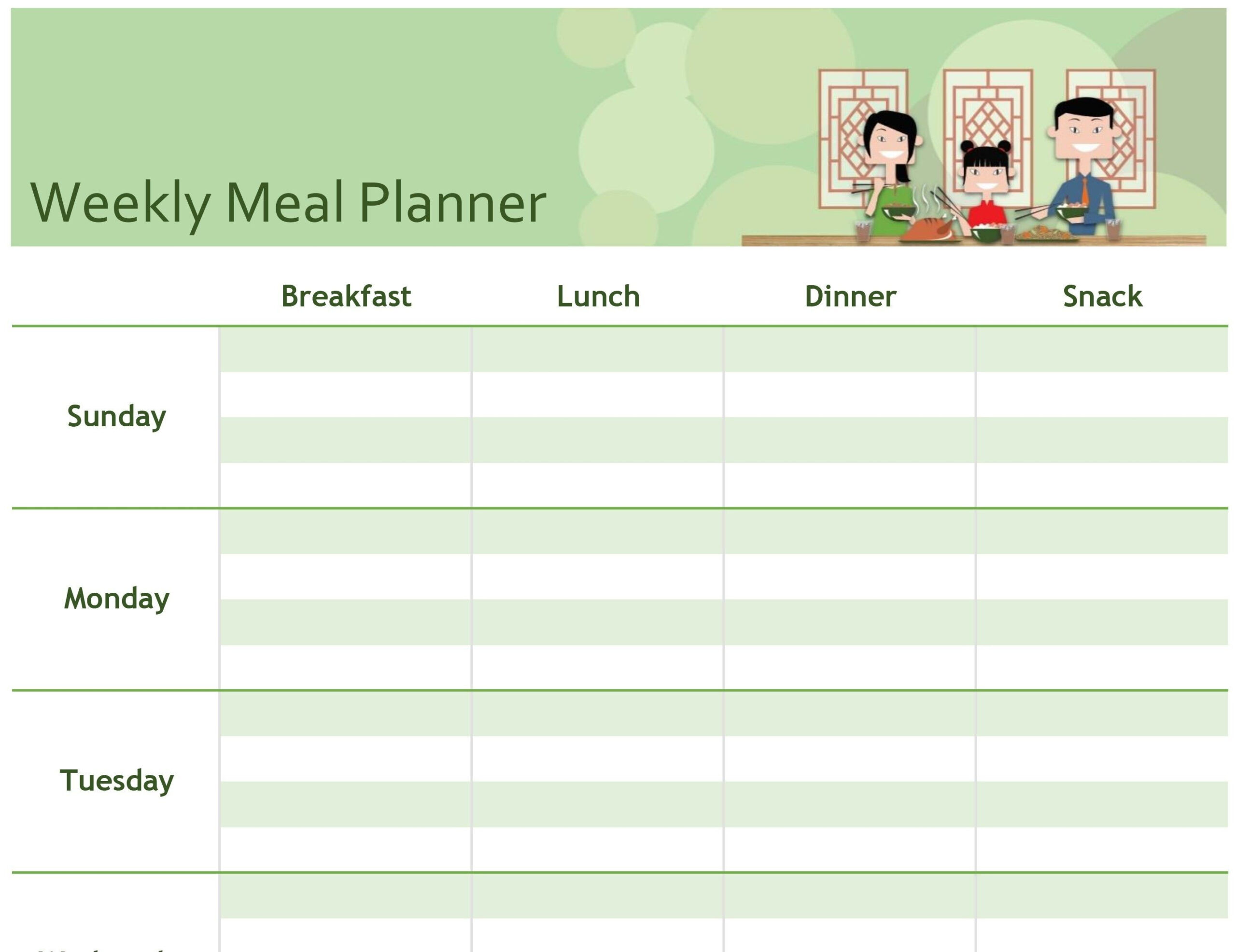Unique Meal Planning Template Google Sheets #Exceltemplate with Two Week Calendar Template Word